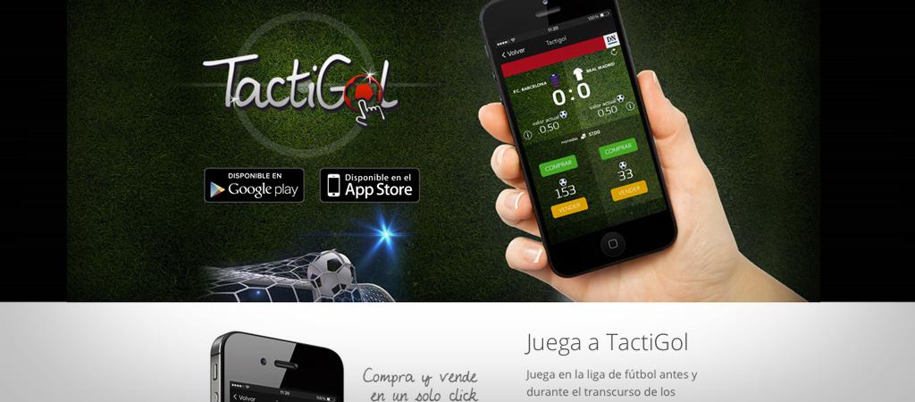 Aplicación TactiGol - Grafideas